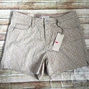 NEW Levi's High Waisted Tan Jean Shorts Size 12
